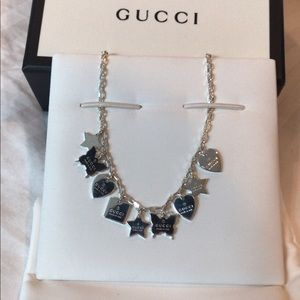 Charm necklace with Gucci trademark